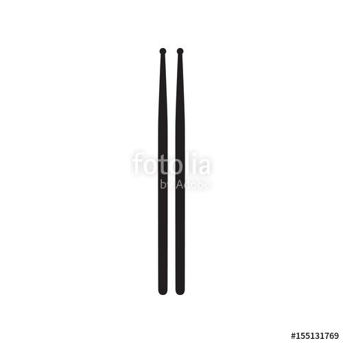 500x500 Drumsticks Or Drum Sticks On White Background Stock Image