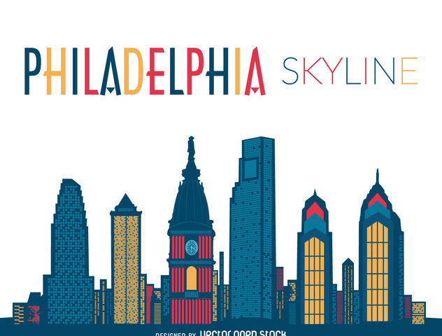 632x480 Philadelphia Skyline Silhouette Free Vector Download 376859 Cannypic