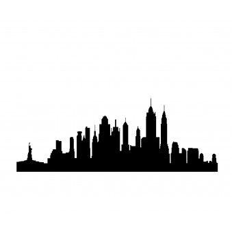 339x339 New York Skyline Skyline Silhouette, Silhouette Vinyl And Vinyl