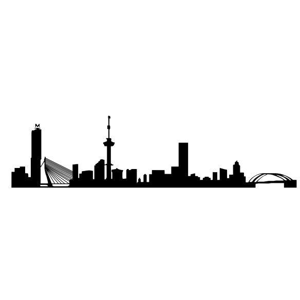 584x584 Rotterdam Skyline Muursticker Raamsticker Nederland