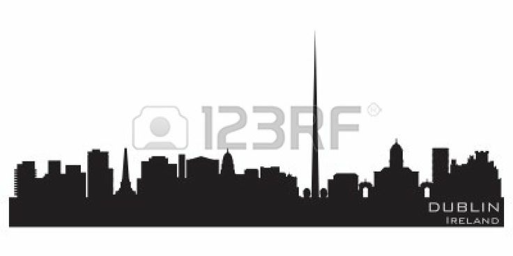 736x368 Skyline Of Dublin, Silhouette Places Silhouettes