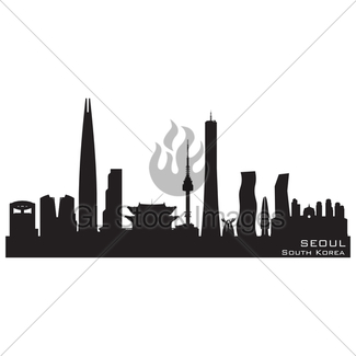 325x325 Cape Town, South Africa Skyline. Detailed Vector Silhouette Gl