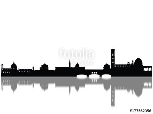 500x375 Detailed Bremen Monuments Skyline Silhouette Stock Photo
