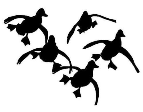 500x392 Ducks Flying Hunting Vinyl Decal Car Window Wall Laptop Sticker