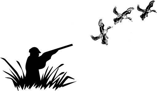510x295 Duck Svg, Duck Hunter Svg, Duck Silhouette, Hunting Svg, Rifle Svg