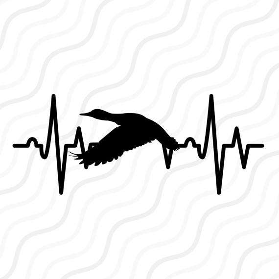 570x570 Duck Heartbeat Svg, Heartbeat Svg, Duck Hunting Svg Cut Table