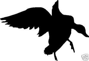 300x206 Silhouette Landing Duck Hunting Decal 7 X 5 Ebay