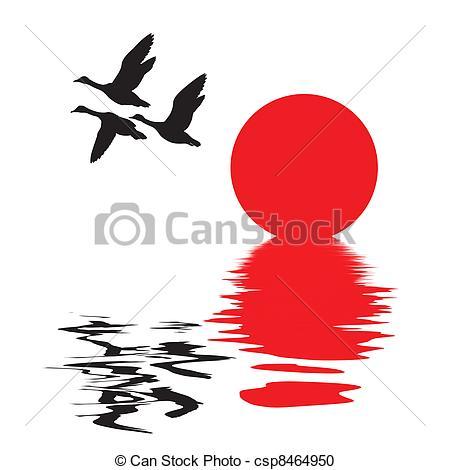450x470 Ducks Flying Illustrations And Clipart. 1,498 Ducks Flying Royalty