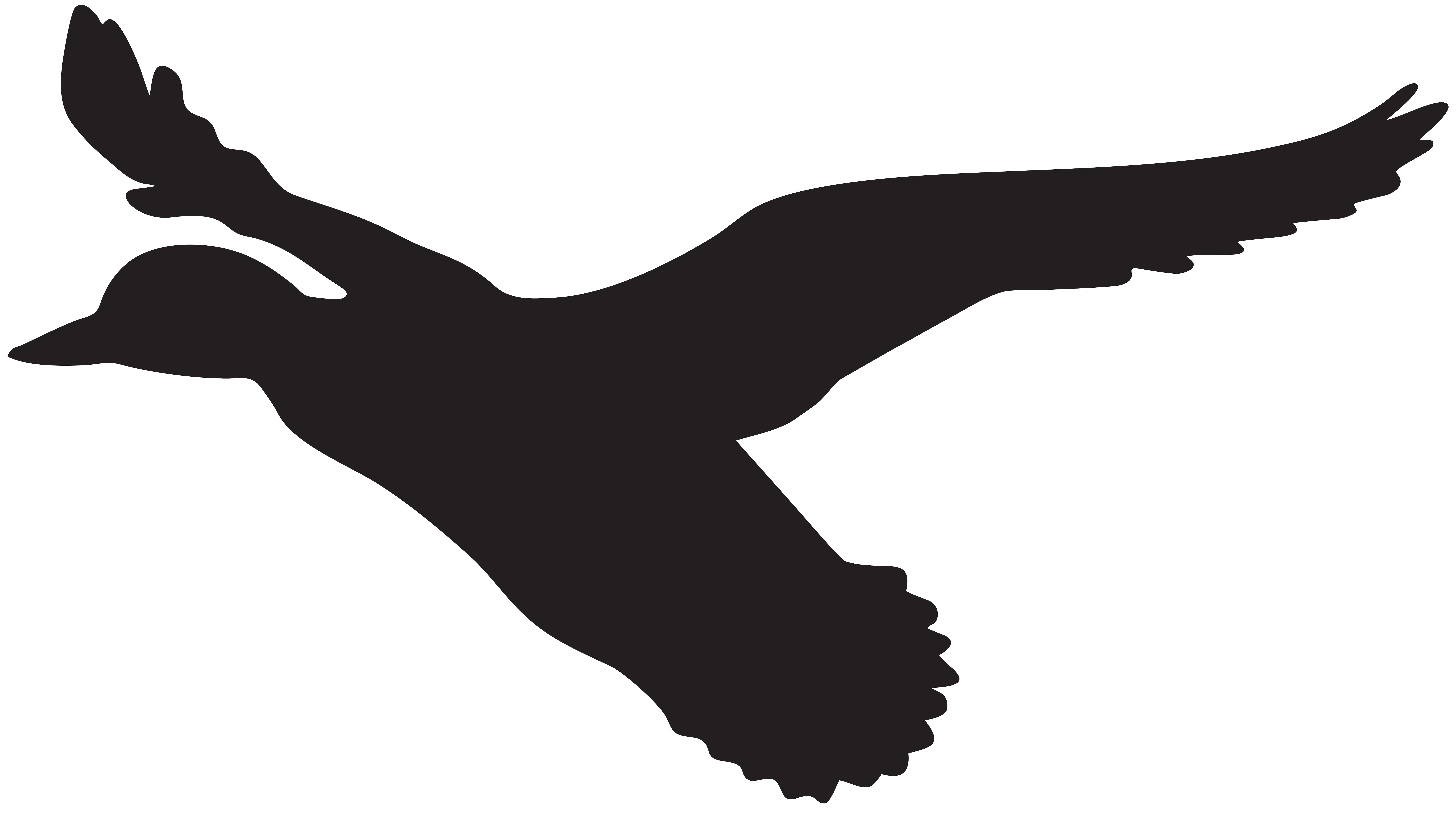 8000x4502 Flying Duck Silhouette Png Clip Art Imageu200b Gallery Yopriceville