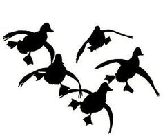 236x198 Flying Duck Silhouette Jukin'' Four Ducks Waterfowl Decal