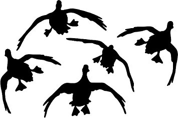 355x235 Duck Decal 5 Flying Automotive