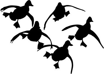 355x251 Flying Ducks Duck Hunting Vinyl Decal Sticker Bumper