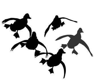 333x280 Hunting Silhouette Duck Hunting Decal Sticker 02 Vinyl