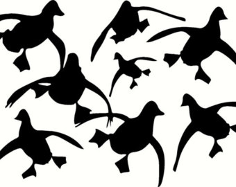 340x270 Duck Wall Decal Etsy