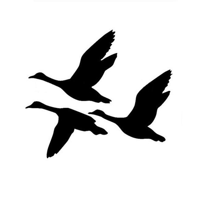 640x640 Ducks Flying Car Sticker Decals Creative Decorative Bird Hunting