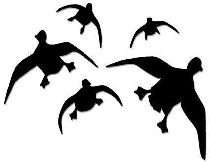425x330 Ducks Geese Flying Hunting Vinyl Decal Sticker