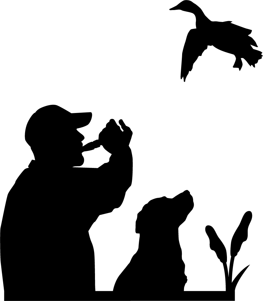 839x959 Duck Call Wall Decal