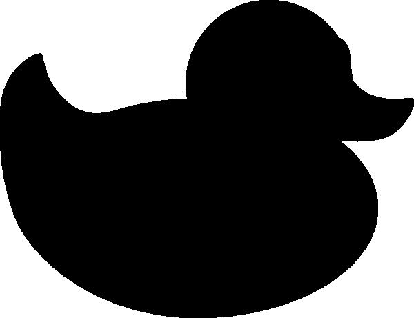 600x461 Black Rubber Duck Clip Art