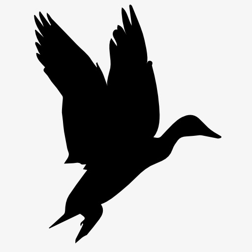 512x512 Silhouette Geese, Bird, Flight, Animal Png Image And Clipart