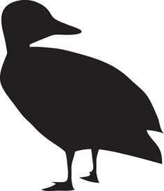 236x275 Duck Silhouette Clip Art Silhouette Of Mandarin Duck Stock