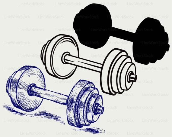 570x456 Dumbbell Weight Svgdumbbell Clipartdumbbell Svgdumbbell