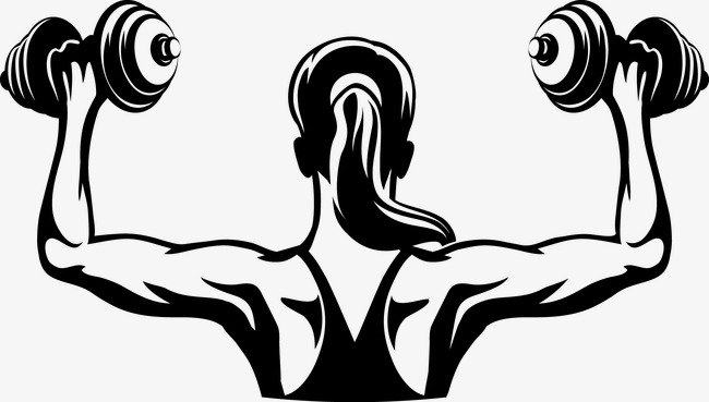 650x369 Silhouette Figures, Fitness, Dumbbell, Weightlifting Png