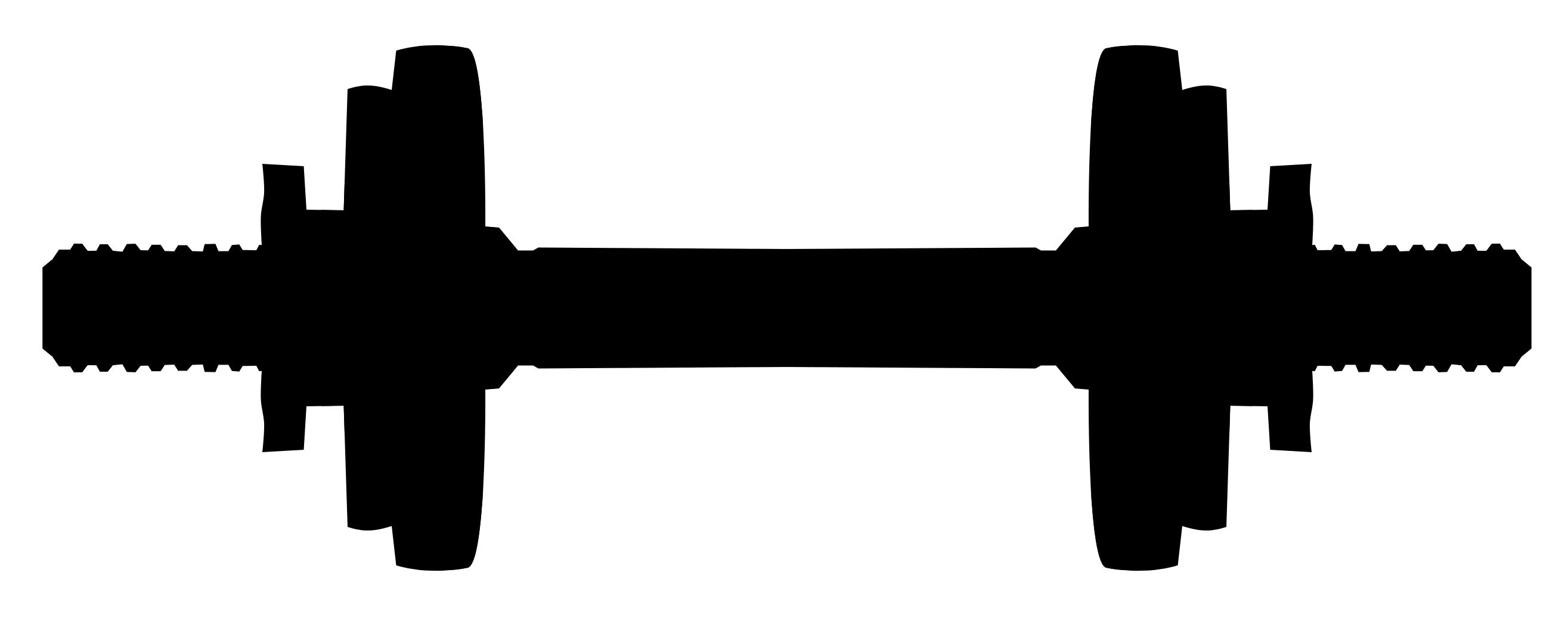 2630x1076 Dumbbell Vector (Svg, Png)