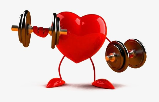 550x353 Cartoon Dumbbell, Dumbbell, Weightlifting, Heart Png Image