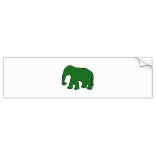 307x307 Elephant Silhouette Bumper Stickers