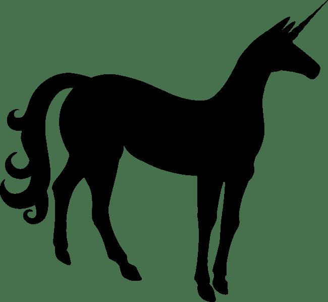 650x598 Slim Unicorn Silhouette Transparent Png Image