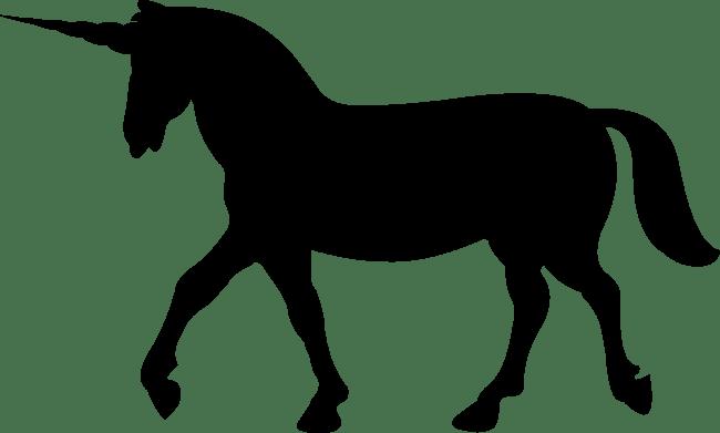 650x391 Unicorn Walking Silhouette Transparent Png Image