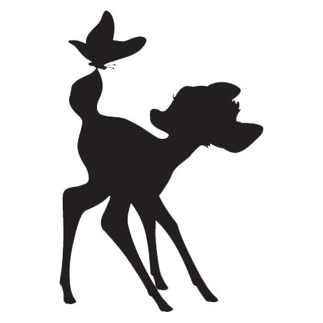 463x463 Bambi Silhouette