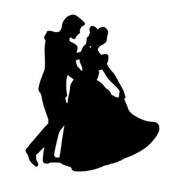 566x582 Couple Silhouette Clipart