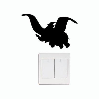 400x400 Dsu Cute Dumbo Silhouette Vinyl Switch Sticker Cartoon Flying