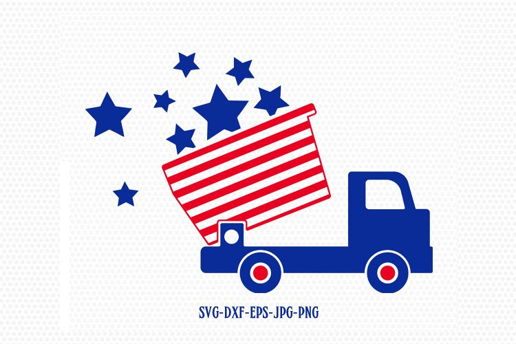 750x500 4 Of July Dump Truck, Boy Svg, Fourth O Design Bundles