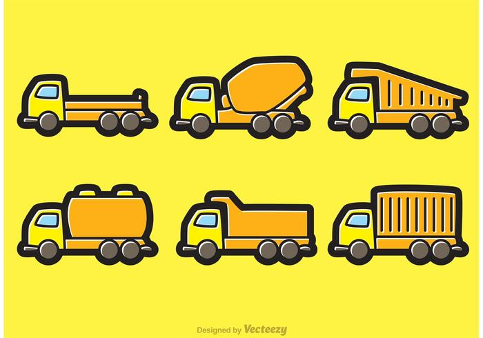 700x490 Dump Trucks Cartoon Vectors