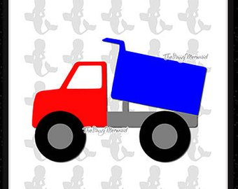 340x270 Svg, Dxf, Eps Cut File Dump Truck, Construction, Transportation