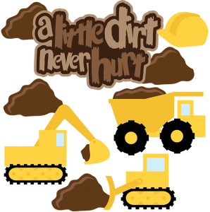 298x300 A Little Dirt Never Hurt Svg Scrapbook Collection Dump Truck Svg