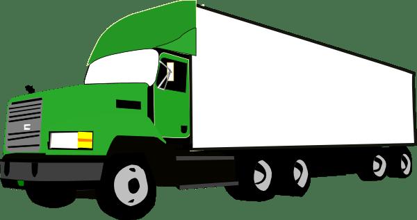 600x317 Semi Truck Silhouette Clipart