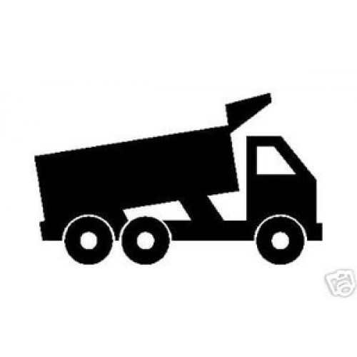 500x500 Dump Truck Silhouette Vinyl Stickerdecal Road Building