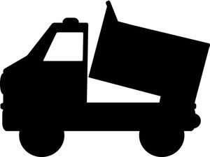 300x225 Dump Truck Clipart Image Black And White Dump Truck Lifting Its