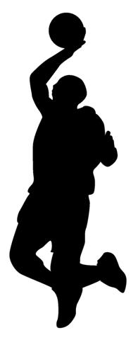 196x480 Dunking Silhouette 2 Decal Sticker