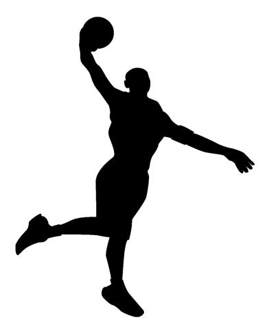 392x480 Basketball Player Silhouette Clipart. Basketball Wall Decal