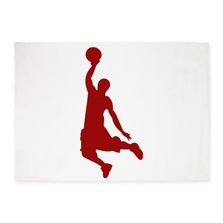 460x460 Basketball Player Slam Dunk Silhouette 5'X7'Area R By Cypresshills