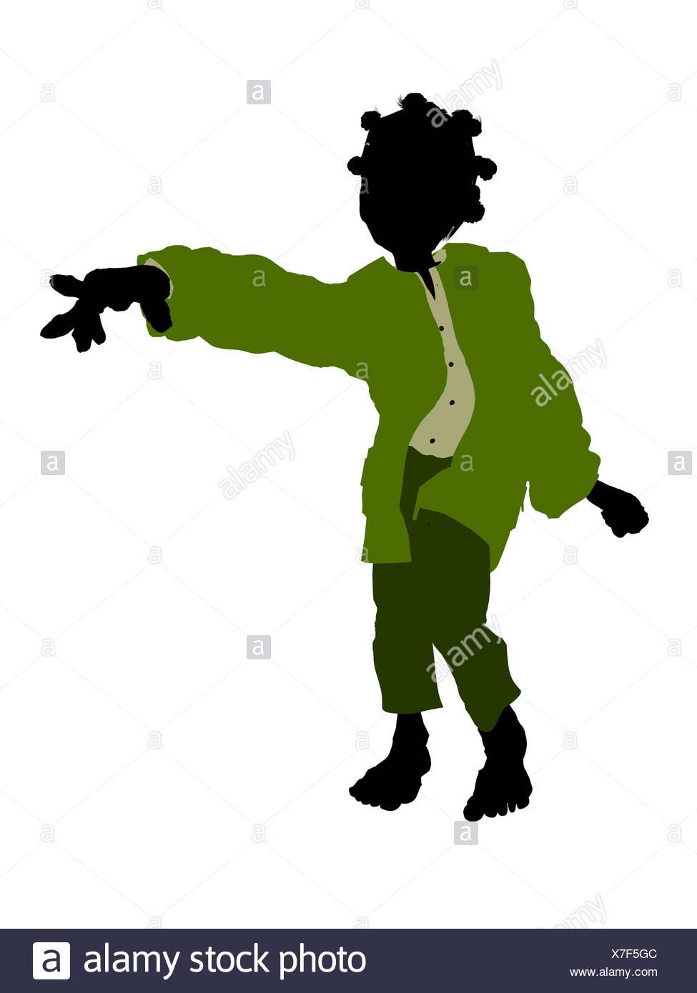 975x1390 Dwarf Silhouette Illustration Stock Photo 280002140