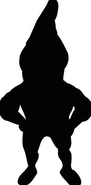 298x608 Gnome, Elf, Silhouette, Outline, Dwarf, Shadow, Gumshoe, Figure