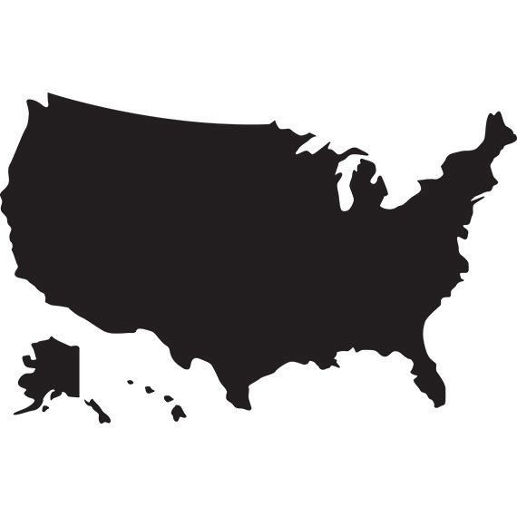 570x570 Usa Map Svg Silhouette Clipart
