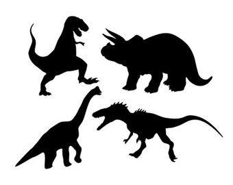 340x270 Dinosaurs Set Svg Dxf Jpeg Png File Instant Download Stencil