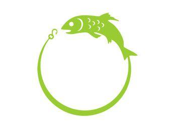 340x270 Fish Hook Monogram Frame Silhouette Svg Dxf File Instant Download
