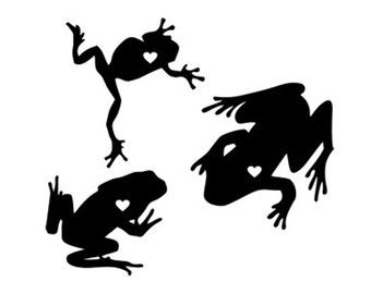 340x270 Frogs Heart Svg Dxf Jpeg Png File Instant Download Stencil